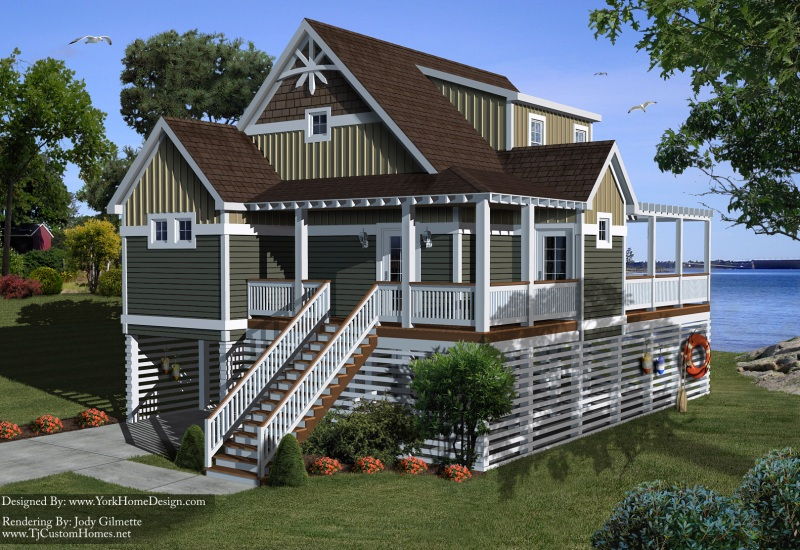 House on stilts plans quotes for Modular beach homes on pilings