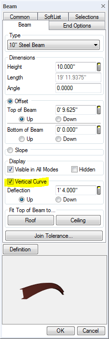 Curved Beam Control