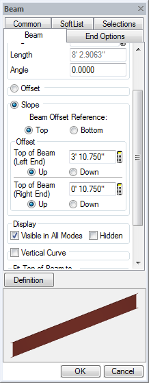 Beam Offset Reference
