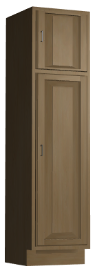 Tall Cabinet with Stacked Doors