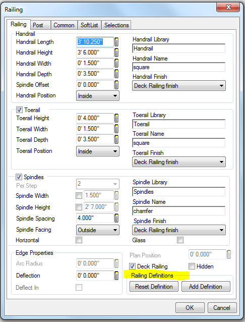 Softplan home design software railings for Softplan review