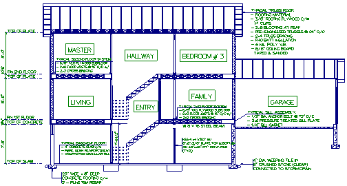 Cross Section with Room Names