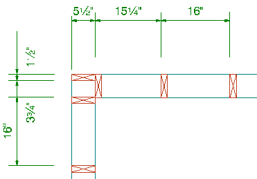 extensions can be pulled from any stud on a framing layout