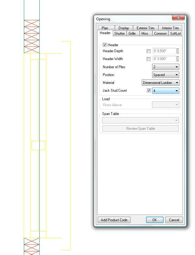 Softplan home design software jack stud count option for Softplan review