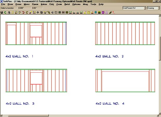 Wall Framing softplan home design software - wall framing