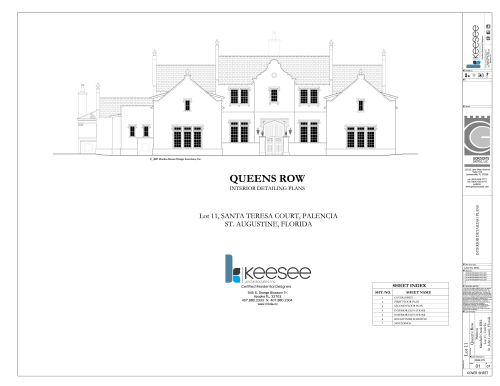 Queens Row Architectural Plans