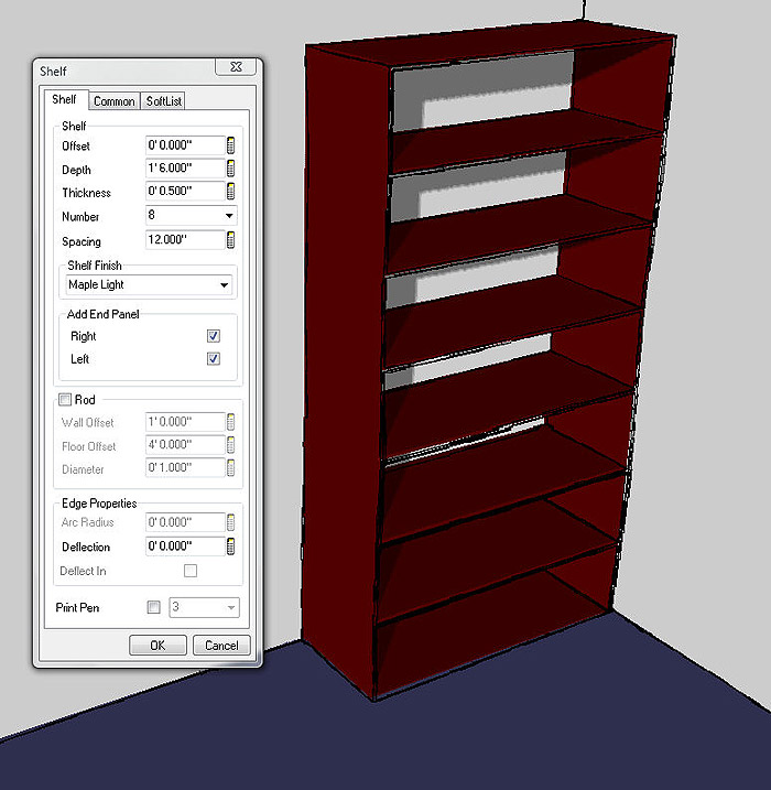 Softplan home design software rod and shelf command for Softplan review