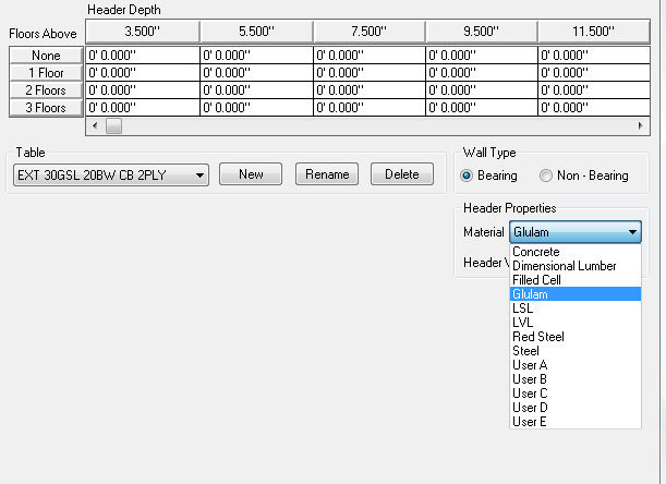 Softplan home design software glulam lumber tables added for Softplan review
