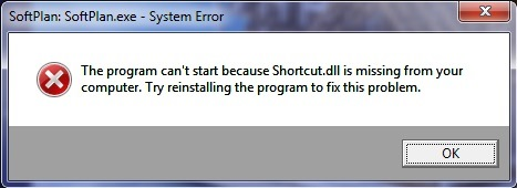 shortcut missing